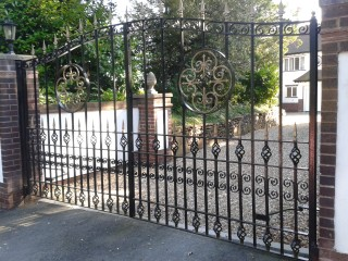 wroght iron gate in Evesham