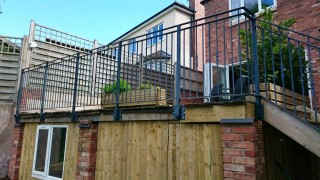 Iron balustrade in Bewdley, Worcestershire