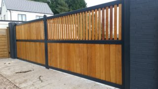 wood and Steel gates