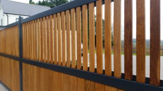 wood and steel gates in Dorridge