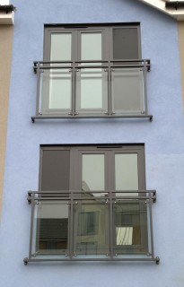 Glass juliet balconies