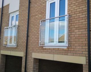 Glass juliet balconies