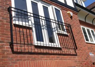 Black iron juliet balcony