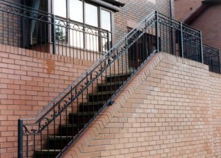 Black iron balustrade