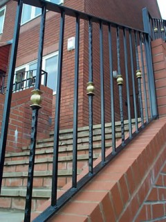 Black and gold iron balustrades in Wombourne