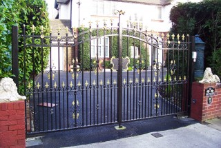 Iron gates in Harborne, Birmingham.