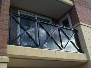 Black iron, walk on balcony