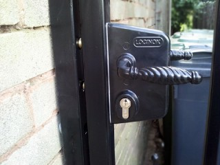 Secure locks on a gate in Wordsley