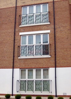 Iron juliet balconies