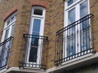 Bespoke iron juliet balconies