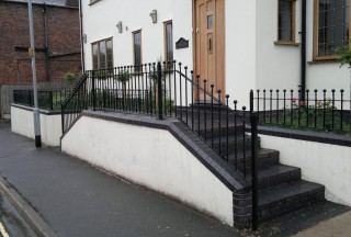 Iron balustrade for a home in Kinver