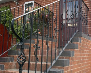 Bespoke iron ballustrades in Kinver