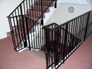 Black iron balustrades