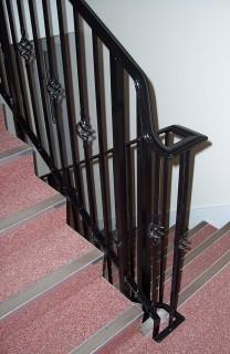 Black iron balustrades