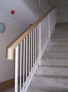 White iron balustrade
