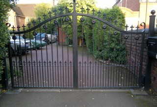 Iron gates in Norton, Stourbridge
