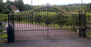 Iron gates in Kinver
