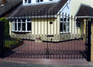 Iron gates in Dudley