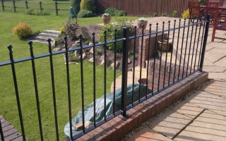 Bespoke iron railings for a garden in Hagley