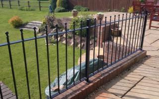 Bespoke iron railings for a garden in Hagley