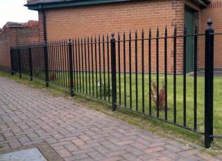 Iron railings in Tipton