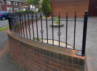 Bespoke iron railings in Coventry