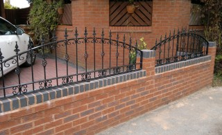 Arch topped railings in Marston Green