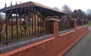 Bespoke arch topped railings in Meriden
