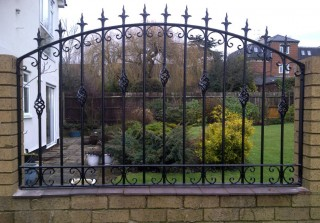 Bespoke iron railing in Pedmore
