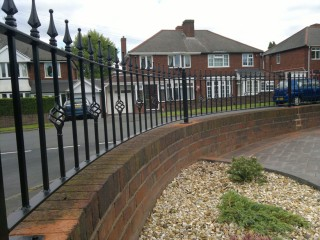 Iron railings in Coventry