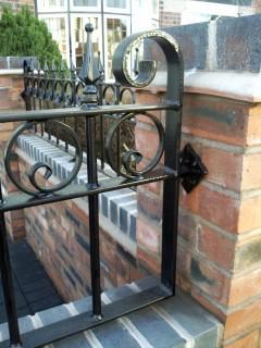 Close up of iron railings in Shrewsbury