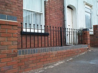 Iron railings in Stourbridge