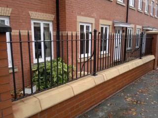 Iron railings in Wolverhampton