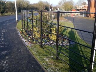 Flat top iron railings