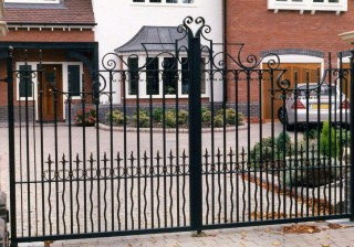 Iron gates in Bartley Green, Birmingham