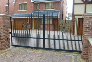 Iron gates in Harborne, Birmingham