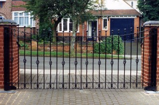 Iron gates in Hampton-in-arden