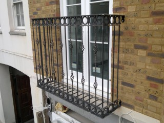 Bespoke iron juliet balcony