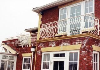 White iron, walk on balcony