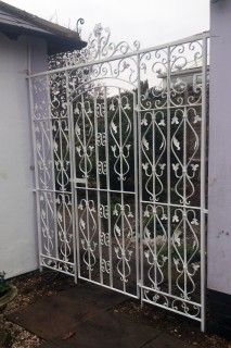 White iron gate in Harborne